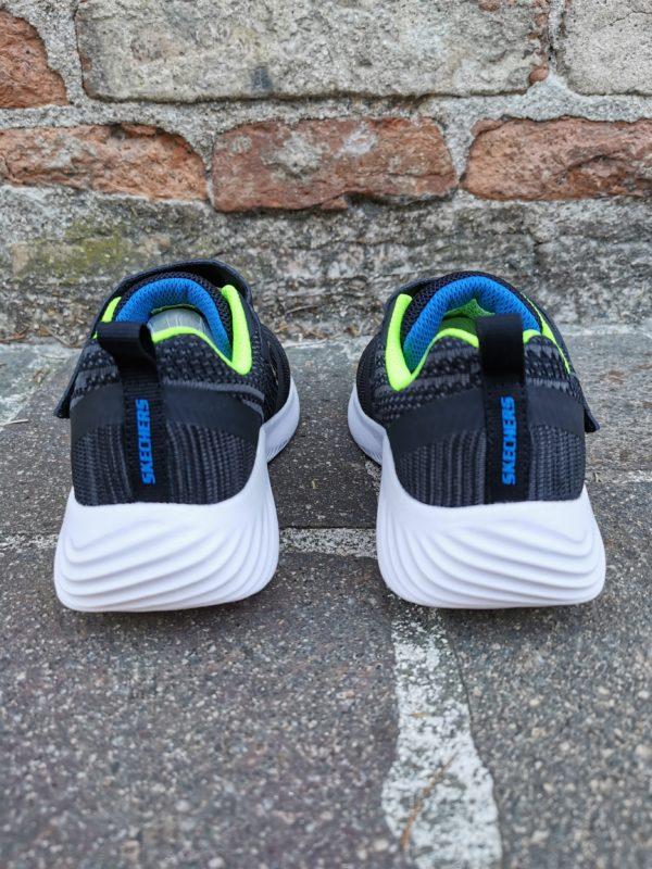 skechers sneaker bambino blu lime 98302L/BBLM bounder zallow