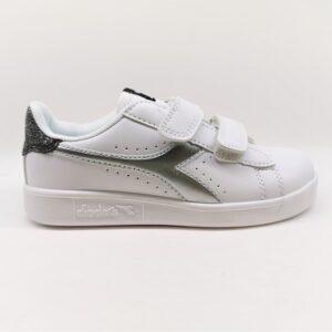 diadora game p ps girl sneaker bambina bianco glitter