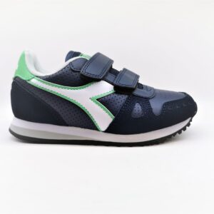 diadora sneaker bambino unisex blu e bianco simple run up ps
