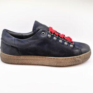 Exton sneaker scarpa uomo blu e rosso 76