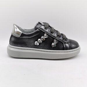 nero giardini sneakers bambina pelle grigio I021541F