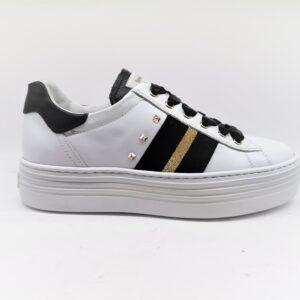 nero giardini sneakers donna bianco in pelle I013370D