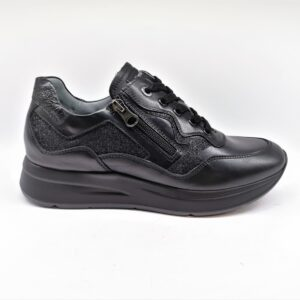 nero giardini sneakers donna nero pelle I013187D