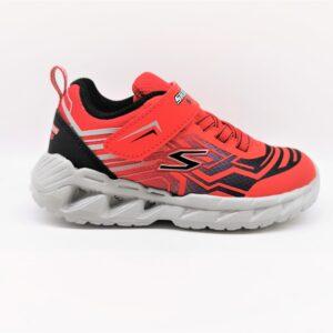 skechers sneakers bambino rosso e nero 4015002RDBK