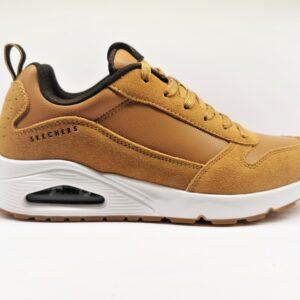 skechers sneakers uomo senape 52468/wsk