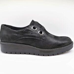imac scarpa comfort donna nero pelle 605370
