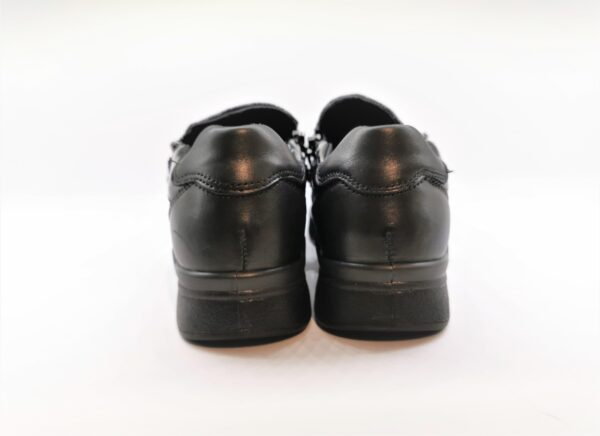 imac scarpa comfort donna nero pelle zip 609760
