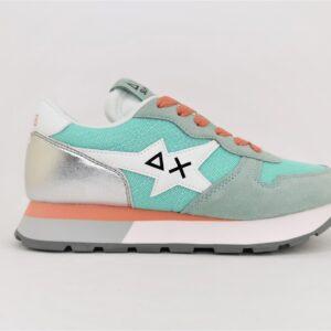 sun68 sneakers running donna verde acqua