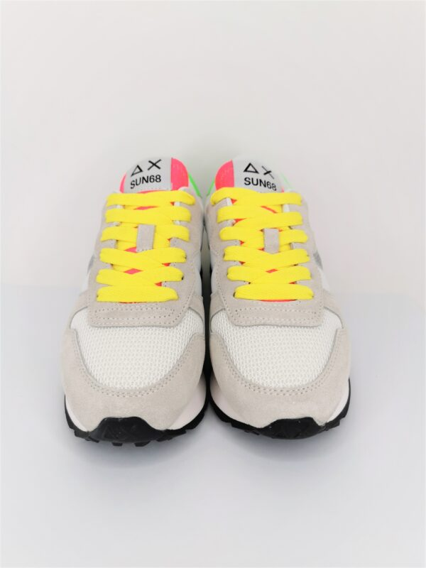 sun68 scarpa sneakers bianco panna glitter