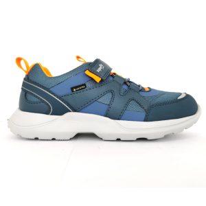Superfit Sneakers Bambino di colore blu con dettagli arancione.