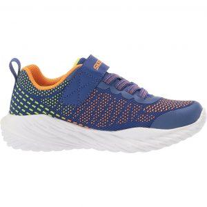 Skechers sneakers da bambino ragazzo di colore blu e arancio.