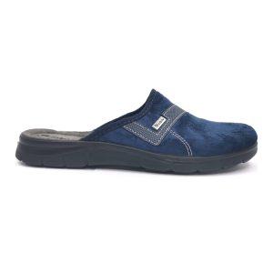 Inblu pantofola da uomo in tessuto di colore blu.