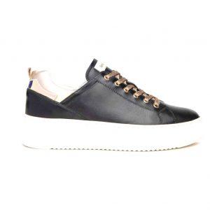 Nero Giardini sneakers da donna in pelle di colore nero.