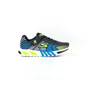 Skechers sneakers da bambino e ragazzo con design multicolore blu e verde.